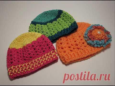 ▶  قبعه Crochet Hat 0-3  - YouTube