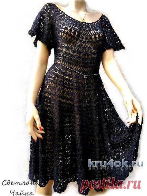 Ажурное платье Южная ночь. Работа Светланы Чайка