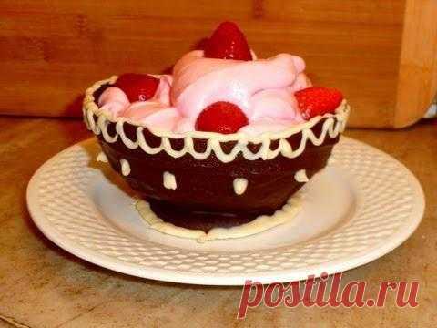 Десерт: шоколадная чаша для десертов))) YouTube