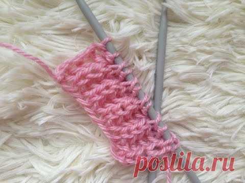 """Knitting by spokes. """"Английская резинка"""" pattern;"""