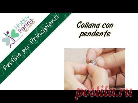 Collana con Pendente   6/6 Perline per Principianti - HobbyPerline.com
