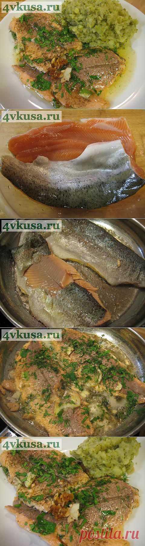 Форель припущенная с лимоном и зеленью. | 4vkusa.ru