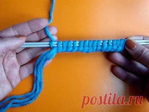 ▶ Урок 7 Двойной набор петель на спицы Кnitting cast on lesson - YouTube