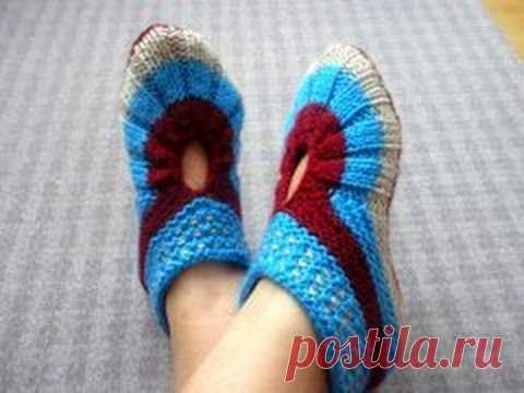 Cozy slippers for the house - YouTube