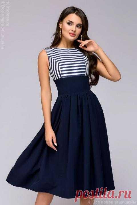 4a85de761ad Платье темно-синее 1001DRESS