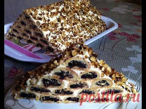 Cake the Monastic Log hut (Very Tasty and Beautiful) \/ Cake about Cherry\/Cherry Cake\/idle time the Recipe