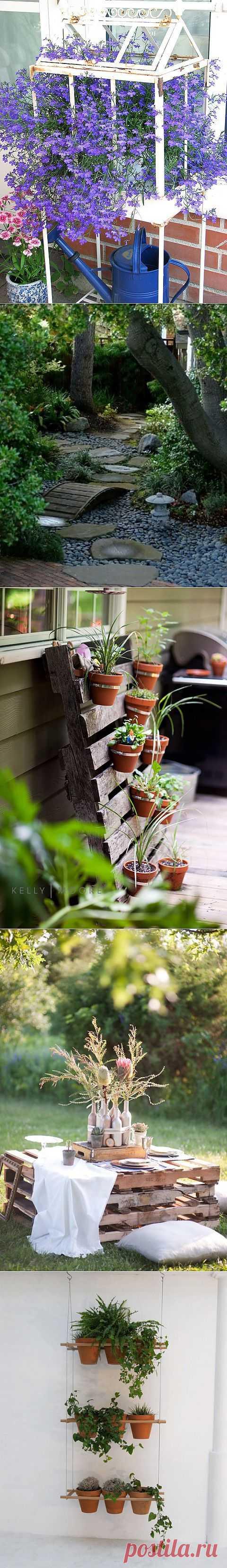 Садовые домики, дорожки, цветники и многое другое для сада.