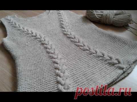 Dress spokes (platochny knitting + braids). Part 5.