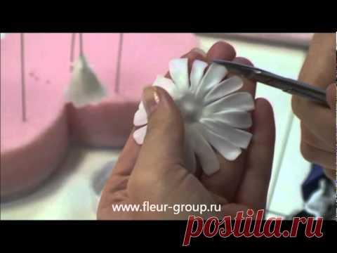 Cerámico floristika fleur - la Lección 1 (la parte 3).wmv - YouTube