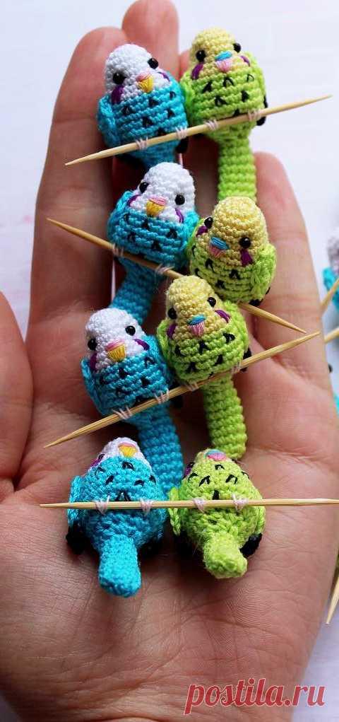PDF Попугай крючком. FREE crochet pattern; Аmigurumi doll patterns. Амигуруми схемы и описания на русском. Вязаные игрушки и поделки своими руками #amimore - Птица, птичка, попугайчик, попугай.