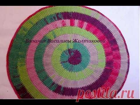 тунисское вязание спиральвасилиса вязание крючком постила