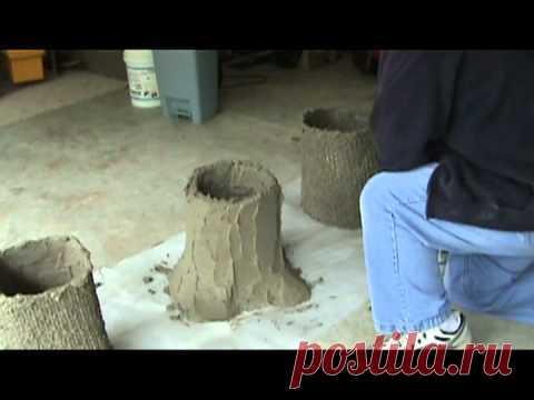 Making a Concrete Bench Part 1 -- Tree Stumps.mpg
