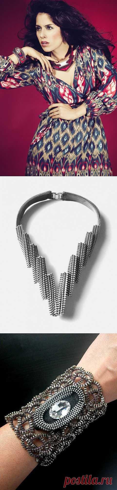 Украшения из молний (трафик) / Украшения и бижутерия / Модный сайт о стильной переделке одежды и интерьера