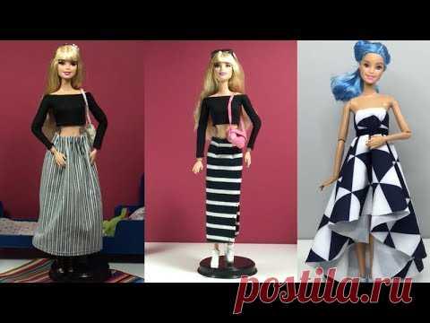 DIY Barbie Clothes Life Hacks 👗 Top 5 DIY Ideas For Barbie Doll 👚 DIY Ideas