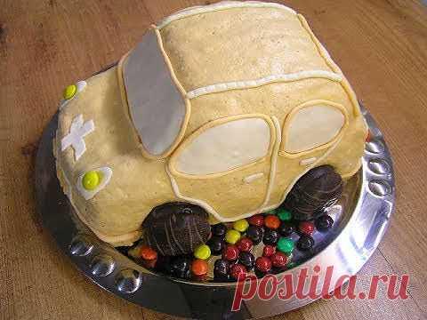 """Торт """"Машинка"""" - Видео рецепт - кулинарный рецепт. Миллион Меню"""