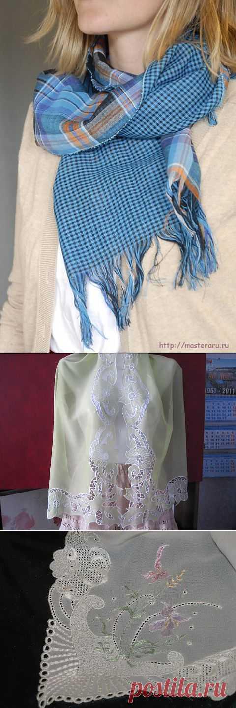 Как сделать летний шарфик | Очумелые ручки
