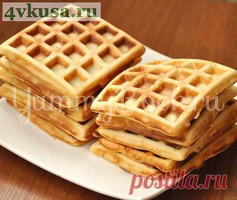 Немецкие дрожжевые вафли | 4vkusa.ru