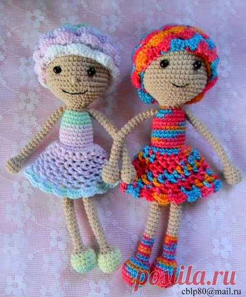 Куклёны Алёна и Полина. Схема Вязания Крючком | Амигурумик