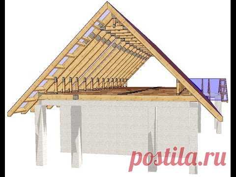 Los secretos de la construcción.dvuhskatnaya el techo. La parte 1