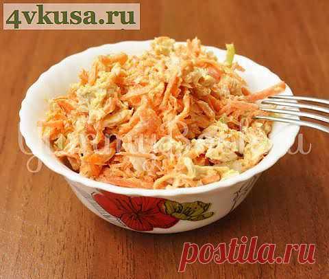 Куриный салат с корейской морковью | 4vkusa.ru