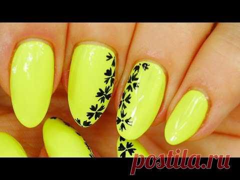 Nail Art. Neon. Simple Design and Beautiful !!!!!