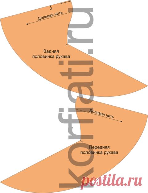 Выкройка платья для полных женщин от Анастасии Корфиати