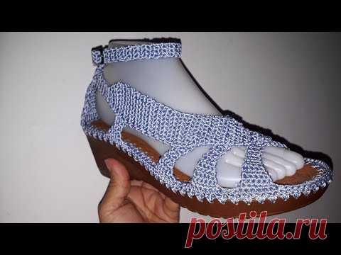 SANDALIA MODELO PISCIS TEJIDO EN CROCHET   Вязаная обувь, следки ... b214b6dc37c