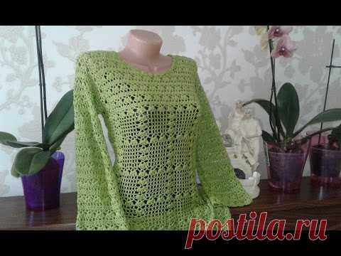Платье крючком. Платье - футляр // Knit crochet dress // Women's knitting