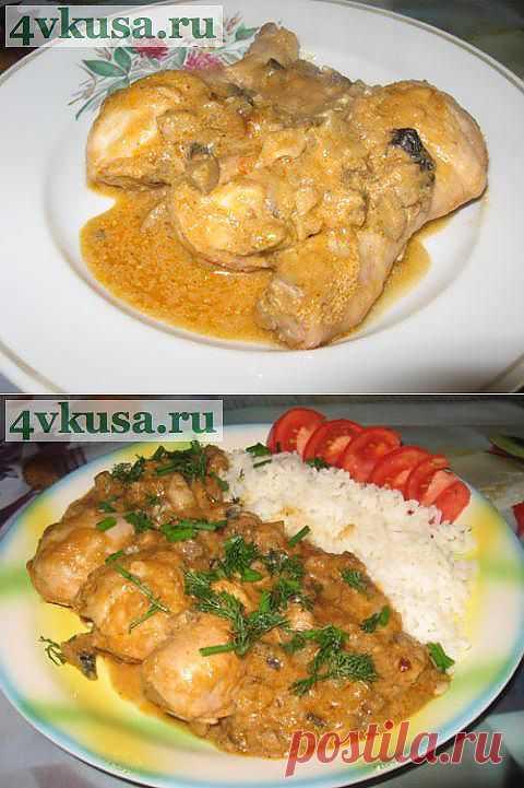 Курица в кабачковой икре с грибами. Фоторецепт. | 4vkusa.ru