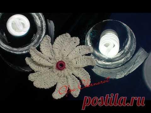 Вязание крючком Ромашка.  daisy crochet