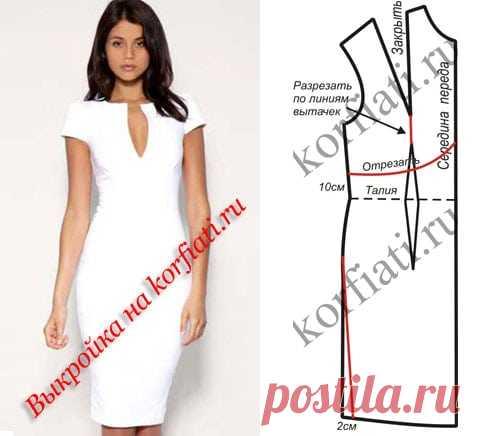 f4734089f35 Выкройка приталенного платья с рукавами А. Корфиати