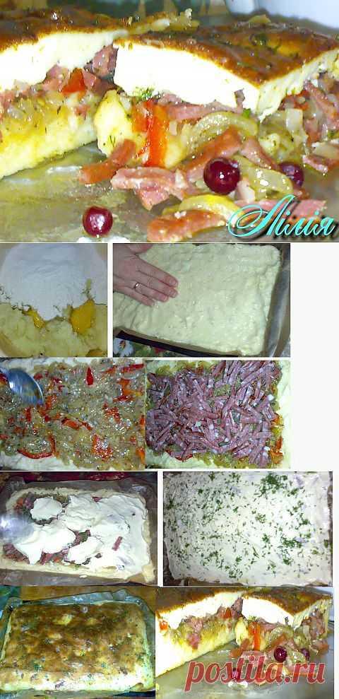 Луково-картофельный пирог под соусом али-оли… | Любимые рецепты