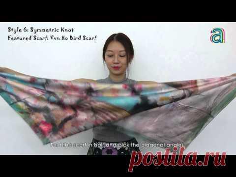 10 creative ways to tie a silk scarf