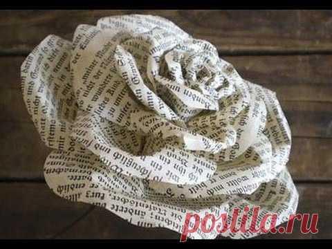 Как создать букет роз из простой газеты