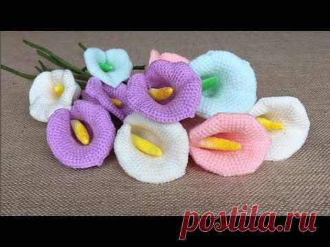 красивые цветы крючком вязаные цветы крючком постила