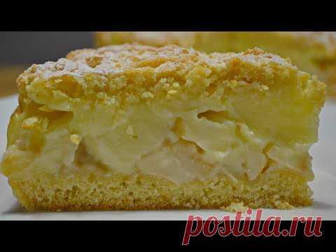 Яблочный ПИРОГ с Заварным Кремом или Польская Шарлотка  | Apple pie with cream