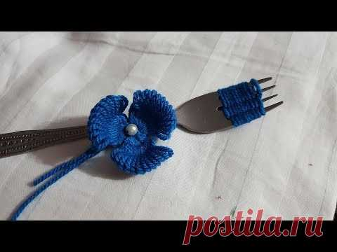 Amazing Embroidery Making Hack Trick Flower Easy Hand Embroidery Design #100