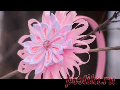 Kanzasha's flowers of Master class \/ DIY Kanzashi