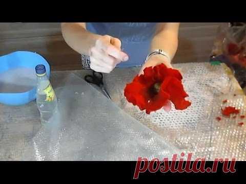 Валяние из шерсти     ✿    Цветок мака   ✿   МК Ирины Пановой