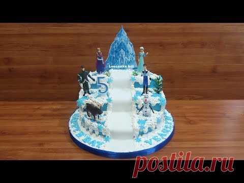 Mainan Frozen Cara Menghias Kue Ultah Frozen Elsa Cara
