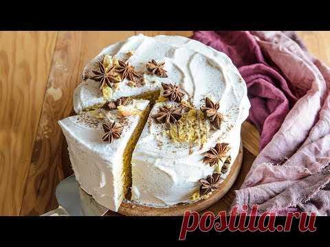 Тыквенный Торт НА СКОВОРОДЕ - тает во рту!🍴Нежный БЫСТРЫЙ торт БЕЗ ВЫПЕЧКИ и ДУХОВКИ