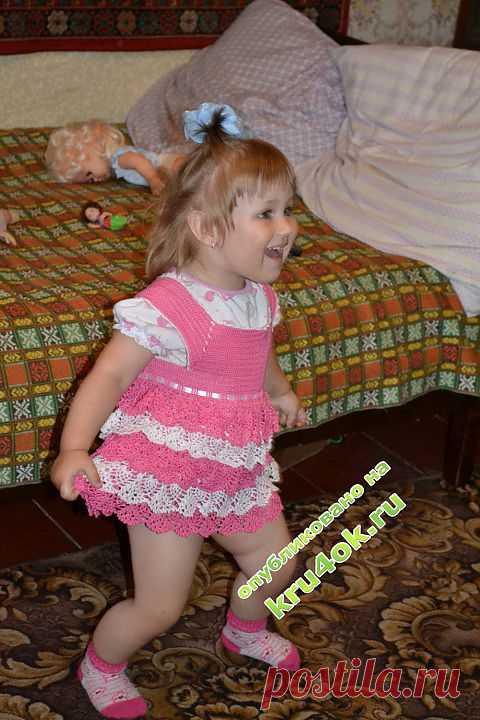 Платье для девочки — работа makedosha - вязание крючком на kru4ok.ru