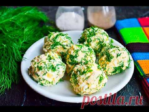 Куриные шарики с сыром Рафаэлло без майонеза