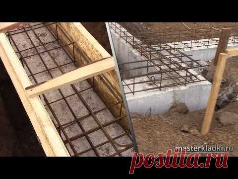 ФУНДАМЕНТ с 18 УГЛАМИ   Залили подушку   Смонтировали ФБС блоки   Опалубка под армопояс