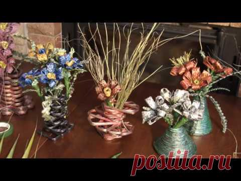 Creating flowers of natural material
