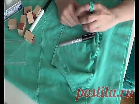 Бабочки в животе (видео мастер-класс) / Рисунки и надписи / Модный сайт о стильной переделке одежды и интерьера