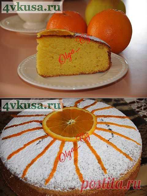 Тунисский апельсиновый кекс/пирог | 4vkusa.ru
