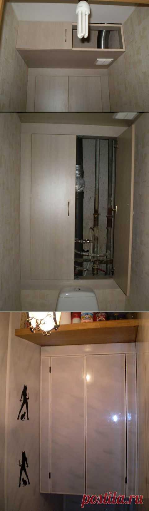 Сантехнический шкаф с антресолью. | СДЕЛАЙ САМ! Сантехнические шкафы дорогие, да и требуют дополнительной отделки. Вот решение.