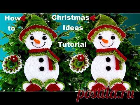 Como hacer fácil muñeco de navidad a crochet Christmas decor