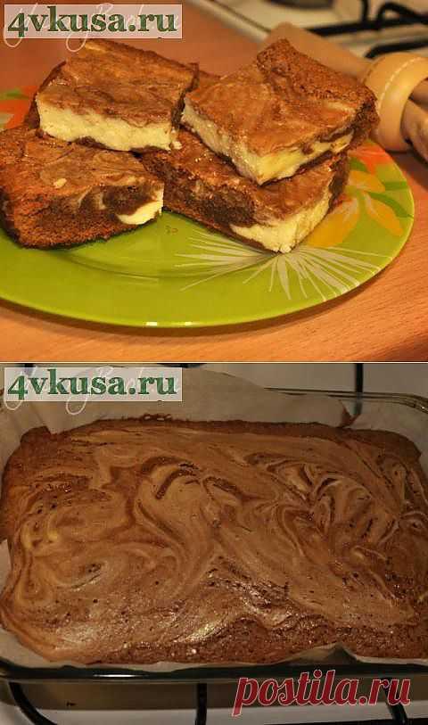 Брауни с сыром Филадельфия | 4vkusa.ru